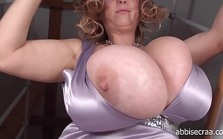 BBW mother Abbi secraa adjacent to staggering monster jugs solo